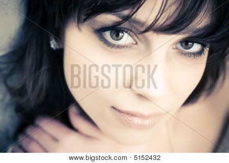 Young Brunette Woman Concept Portrait