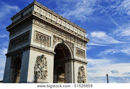 Arc De Triomphe De L'�toile, Triumphal Arch, Paris, France