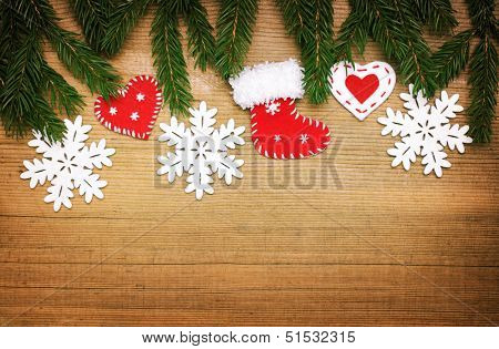 background with Christmas border