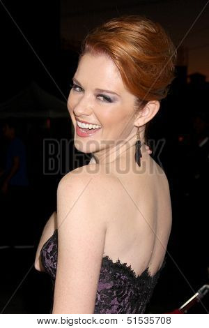 LOS ANGELES - SEP 28:  Sarah Drew at the Grey's Anatomy 200th Show Party at The Colony on September 28, 2013 in Los Angeles, CA