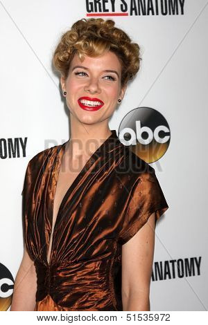LOS ANGELES - SEP 28:  Tessa Ferrer at the Grey's Anatomy 200th Show Party at The Colony on September 28, 2013 in Los Angeles, CA