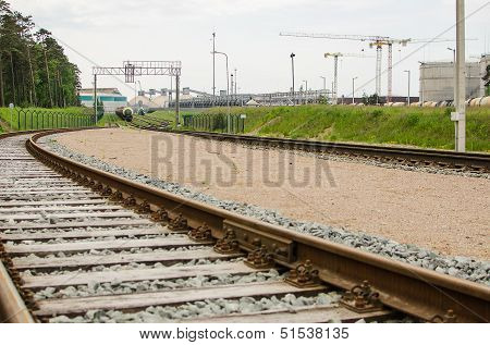 Railway and factory