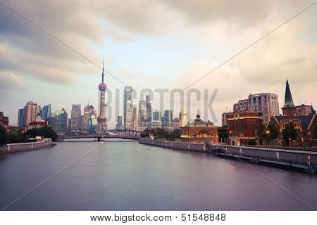 Shanghai At Twilight