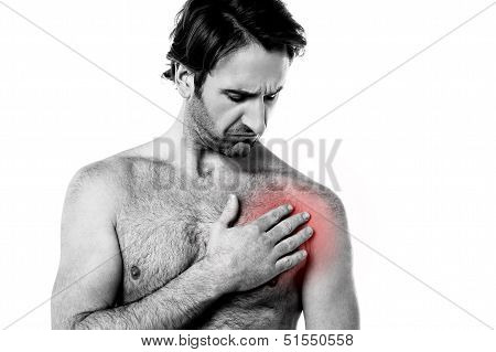 Young Man Having Chest Pain