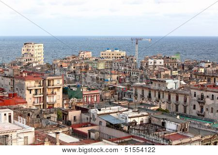 HAVANA - MAY 14: Top view of the city of Havana on May 14, 2013 in Havana, Cuba