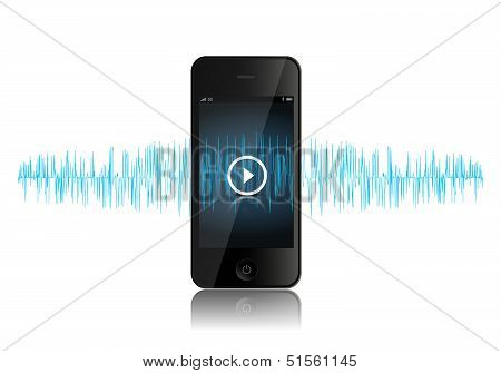 Smartphone Music Sound Wave
