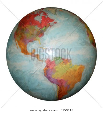Western Hemisphere World Globe With North And South America