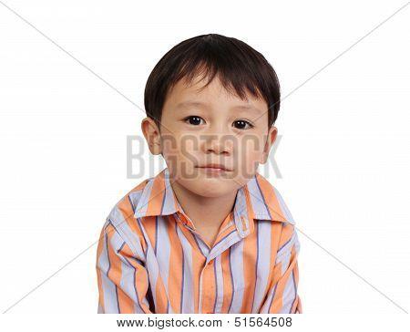 Portrait of young cut boy