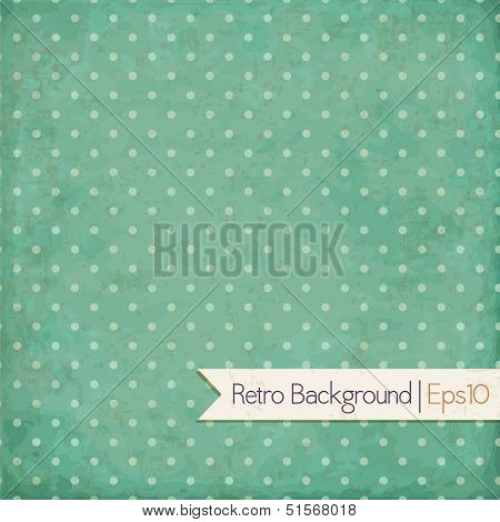 Vintage background. Polka dot design. Vector eps10