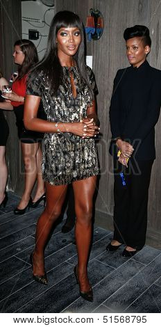 NEW YORK-SEP 28: Supermodel Naomi Campbell attends the grand opening of TAO Downtown at the Maritime Hotel on September 28, 2013 in New York City.