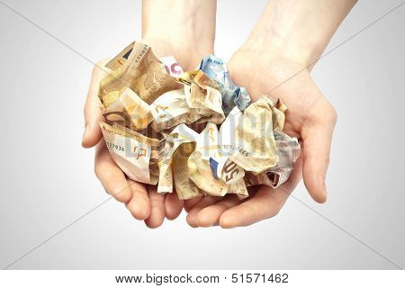 Rich Hands Full With Money