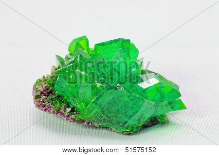 Crystal Macro Photo In Emerald Color
