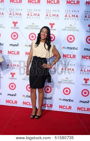 LOS ANGELES - SEP 27:  Sonia Alcantara at the 2013 ALMA Awards - Arrivals at Pasadena Civic Auditorium on September 27, 2013 in Pasadena, CA