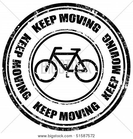Keep Moving-stamp