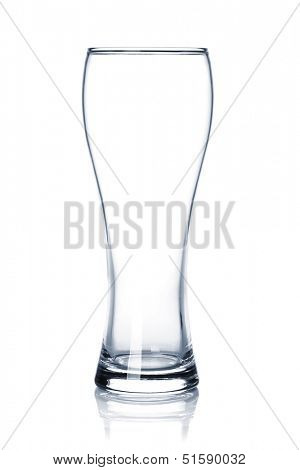 Empty beer glass. Isolated on white background
