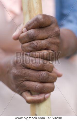 Mãos afro-americanas