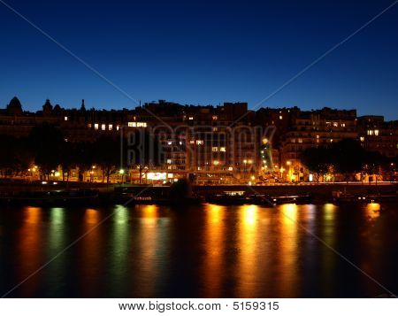 Night On The River Seine