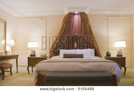Bedroom With Canopy King-size Bed