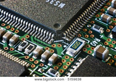 Circuit Board Chip Border