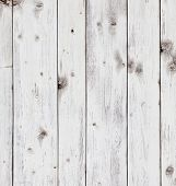 image of wooden fence  - Old wooden board painted white - JPG