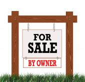 Real Estate Sign For Sale By Owner poster