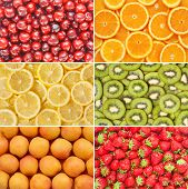 stock photo of apricot  - HealtHealthy food background - JPG