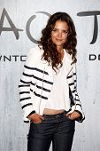 NEW YORK-SEP 28: Actress Katie Holmes attends the grand opening of TAO Downtown at the Maritime Hote
