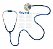pic of diagnostic medical tool  - Stethoscope - JPG