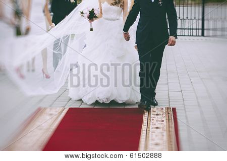A Happy Young Bride & Groom