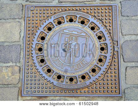 Manhole Cover Emblem Of Trier