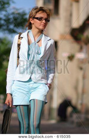 Business Women Walking On The Street