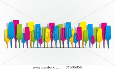 Creative Abstract Colorfull Champaign Glasses