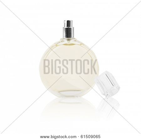 women's perfume in beautiful bottle isolated