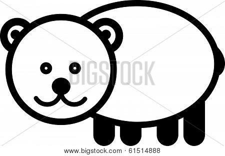 Cute animal bear - illustration