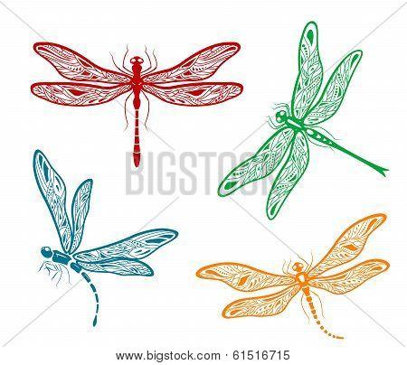 Pretty dainty dragonfly designs