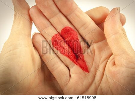 Holding A Heart
