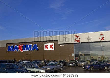 Christmas Installation At The Supermarket Retail Chain Maxima