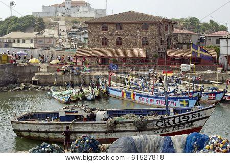 Poor African Fishing Village Landscape