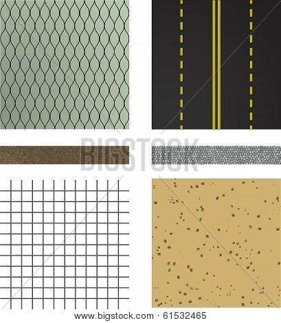 set of asphalt road textures