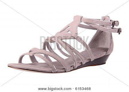 Womans fashion shoe on white