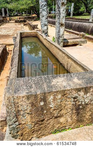 Rock Medicine Bed At Anuradhapura Ancient City Sri Lanka