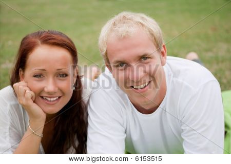 Happy Couple Relaxing