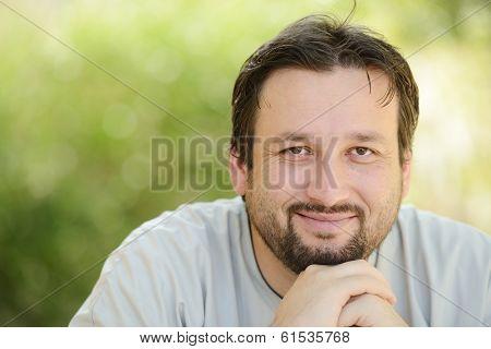 Portrait of Arabic man