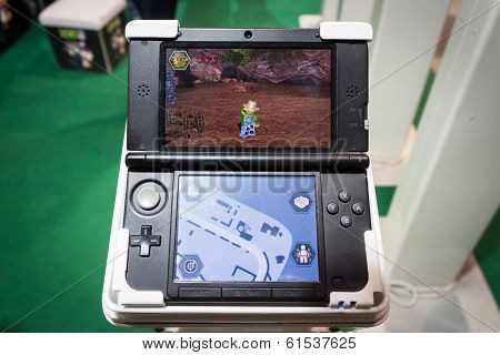 Nintendo Console At Cartoomics 2014 In Milan, Italy