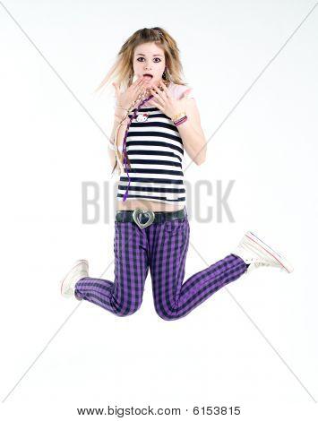 Shocked Jumping Girl