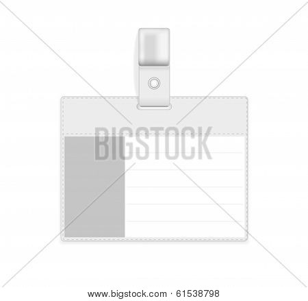 Vector Realistic Card Name Or Id Holder