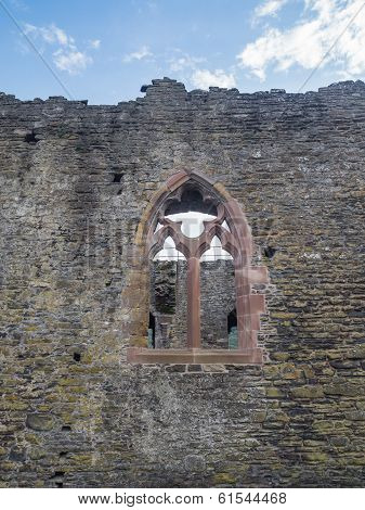 Window in one of the walls at Conwy Castle, Wales