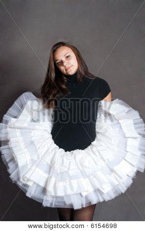 Ballerina In White Tutu
