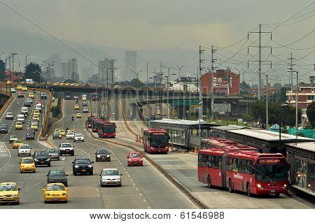 Bogota Highway Traffic