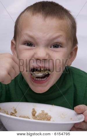 Boy Eating Oatmeal